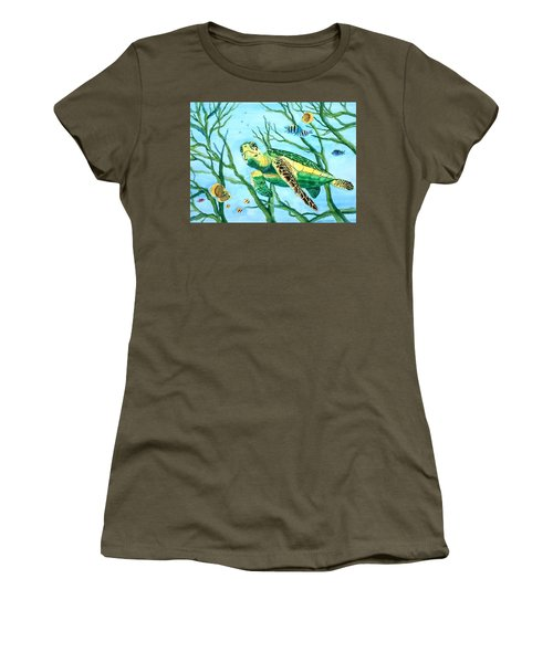 Sea Turtle Series #3 Women's T-Shirt (Athletic Fit)