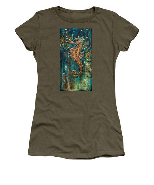Seahorse And Kelp Women's T-Shirt