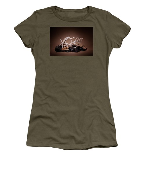 Seashells On The Rocks Women's T-Shirt (Athletic Fit)