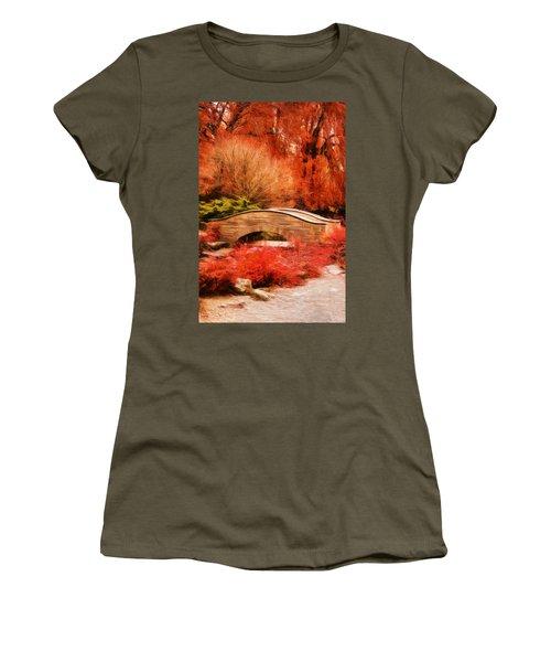 Secret Footbridge Women's T-Shirt (Athletic Fit)