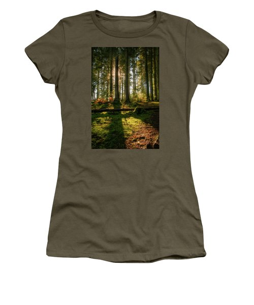 Women's T-Shirt (Athletic Fit) featuring the photograph Secret Forest by Geoff Smith