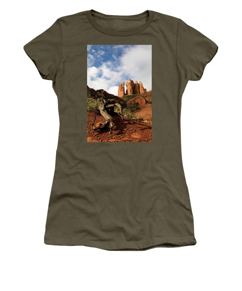 Sedona Red Rocks No. 01 Women's T-Shirt (Athletic Fit)