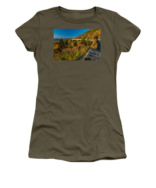 Seize The Day At Linn Cove Viaduct Autumn Women's T-Shirt