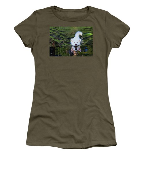 Women's T-Shirt (Athletic Fit) featuring the photograph Sekani Swimming by Sean Sarsfield