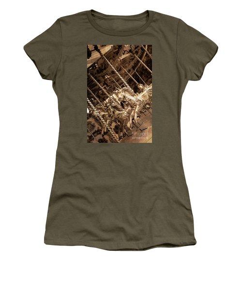 Sepia Carousel Horse Women's T-Shirt