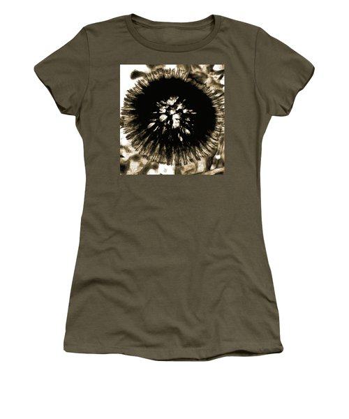 Sepia Dandelion Women's T-Shirt (Athletic Fit)