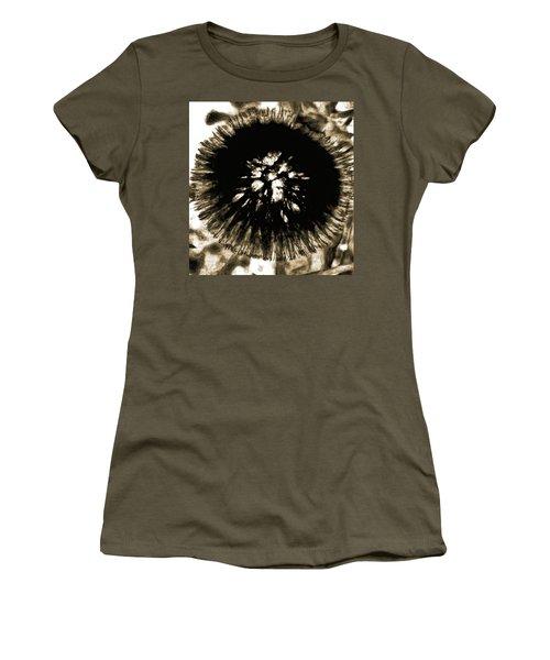 Sepia Dandelion Women's T-Shirt (Athletic Fit)