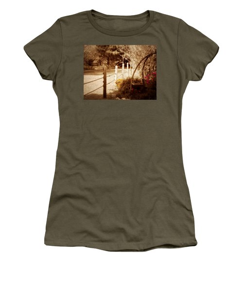 Sepia Garden Women's T-Shirt (Athletic Fit)