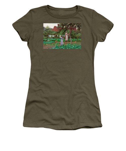 September Women's T-Shirt (Junior Cut) by Edmund Blair Leighton