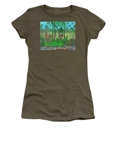 September   Hunters In The Jungle Women's T-Shirt (Athletic Fit)