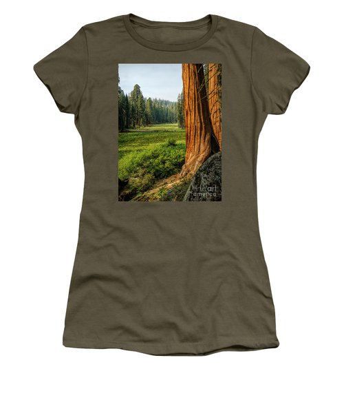 Sequoia Np Crescent Meadows Women's T-Shirt (Athletic Fit)