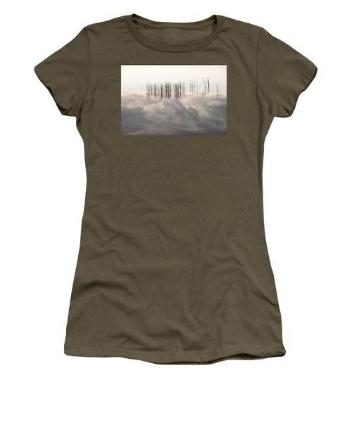 Serenity Dwells Here Where Tranquil Water Flow Cloaked  In Hues Of Love Women's T-Shirt
