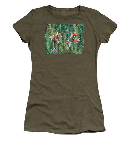 Seven Little Fishies Women's T-Shirt (Junior Cut) by Maria Watt