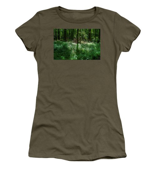 Shadow And Light In A Forest Women's T-Shirt