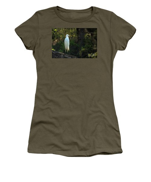 Shadow Heron Women's T-Shirt (Athletic Fit)