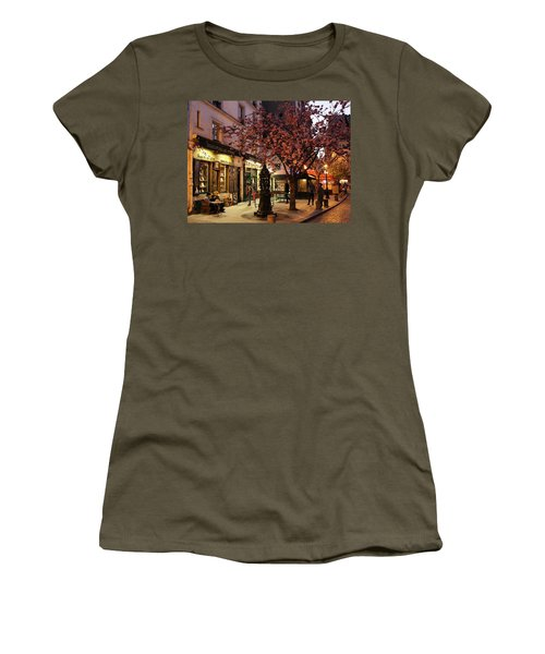 Women's T-Shirt (Junior Cut) featuring the photograph Shakespeare Book Shop 2 by Andrew Fare