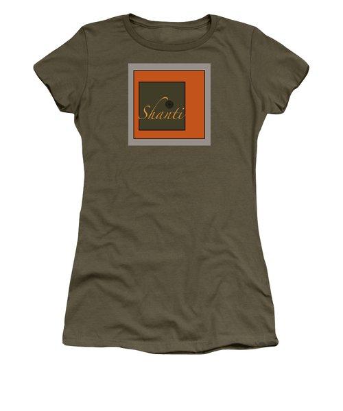Women's T-Shirt (Junior Cut) featuring the digital art Shanti by Kandy Hurley