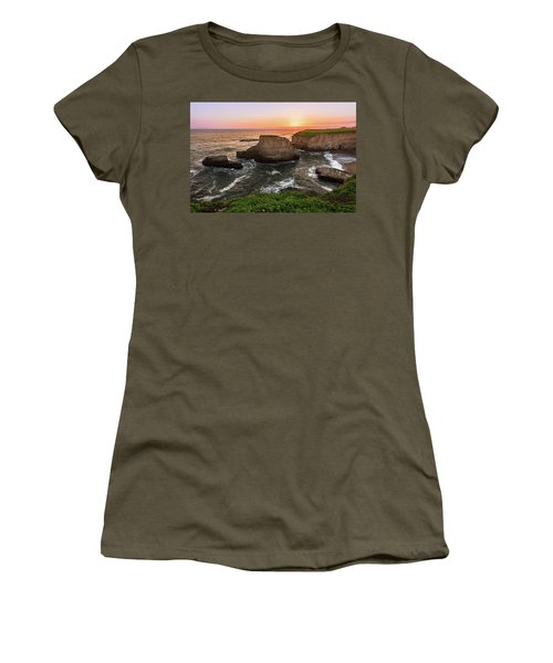 Shark Fin Cove Sunset Women's T-Shirt