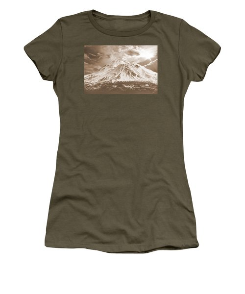 Women's T-Shirt (Junior Cut) featuring the photograph Shasta Mt by Athala Carole Bruckner