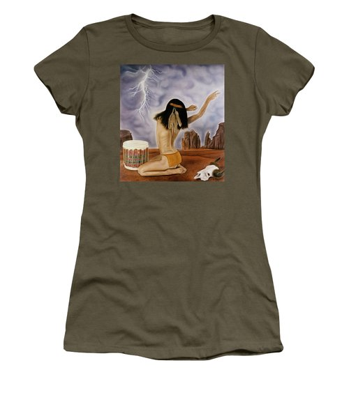 She Called The Rain Women's T-Shirt (Athletic Fit)