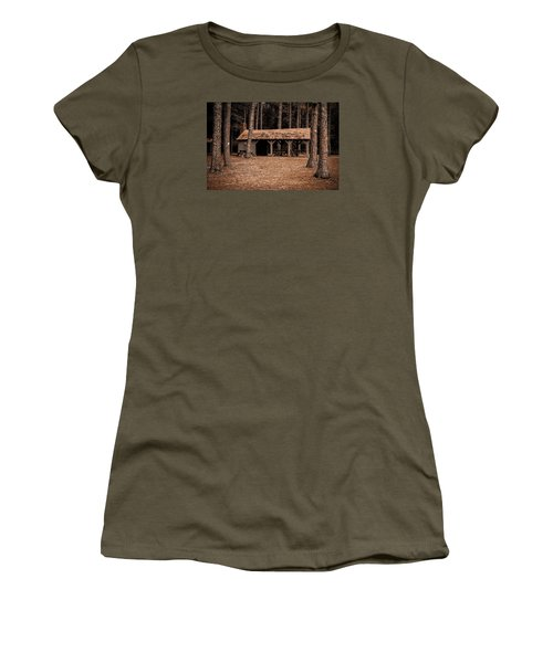 Shelter In The Woods Women's T-Shirt (Athletic Fit)