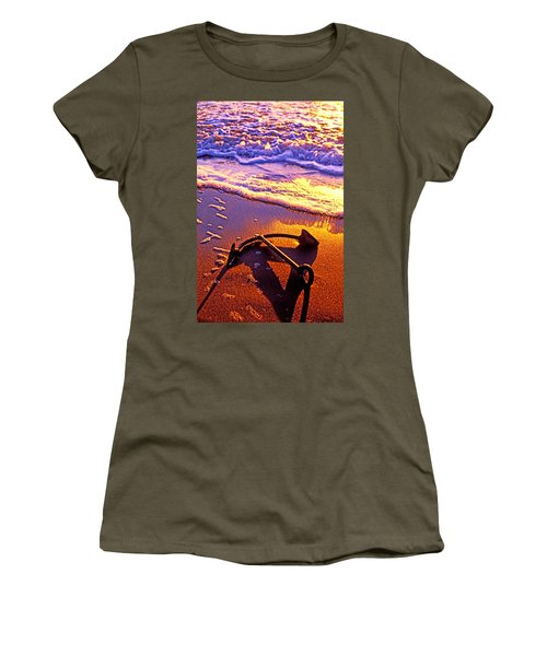 Ships Anchor On Beach Women's T-Shirt