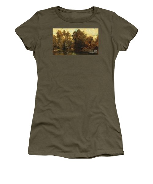 Shooting At A Woodland Pool Women's T-Shirt