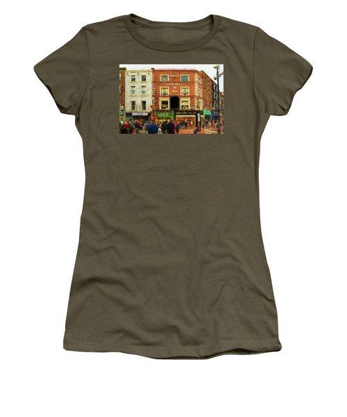 shopping on Grafton Street in Dublin Women's T-Shirt