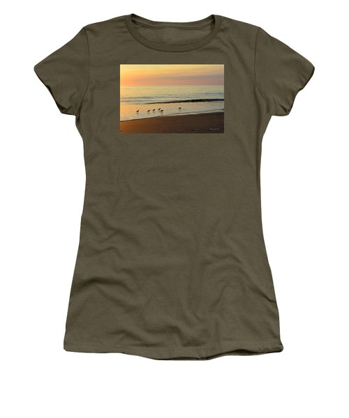Women's T-Shirt featuring the photograph Shorebirds 9/4/17 by Barbara Ann Bell