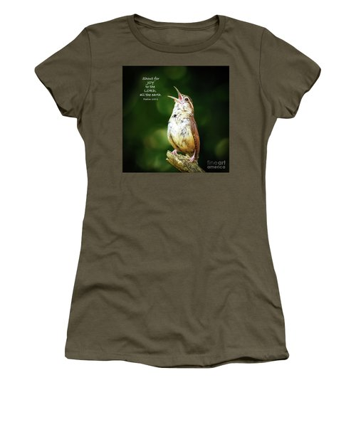 Women's T-Shirt (Athletic Fit) featuring the photograph Shout For Joy by Kerri Farley