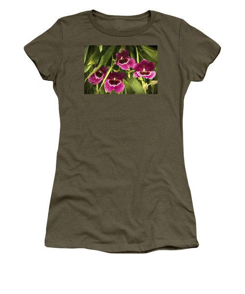 Shy, Confident, Tentative And Awkward Orchids Women's T-Shirt (Junior Cut) by Penny Lisowski