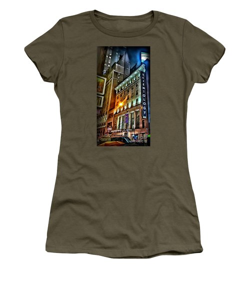 Women's T-Shirt (Junior Cut) featuring the photograph Sights In New York City - Scientology by Walt Foegelle
