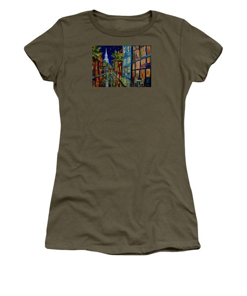 Silent Night Women's T-Shirt (Junior Cut) by Dorothy Allston Rogers