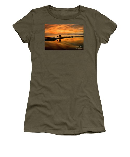 Silhouette And Amazing Sunset In Thassos Women's T-Shirt