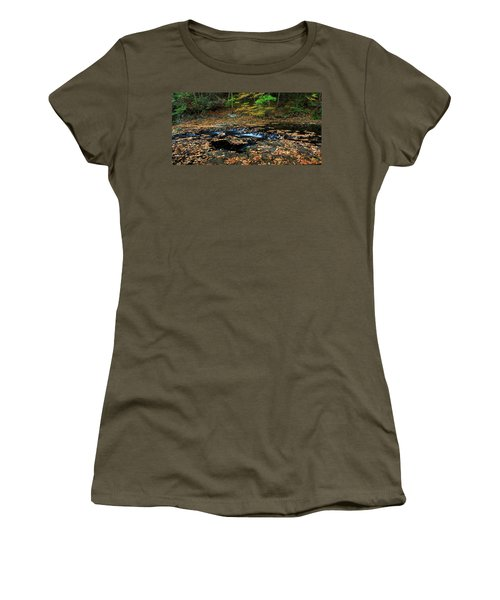 Silky New England Stream In Autum Women's T-Shirt