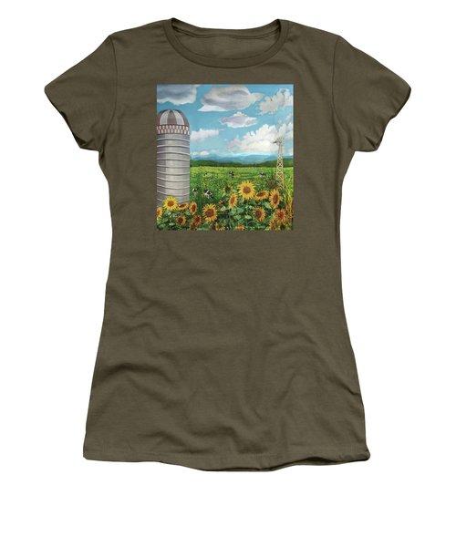 Silo Farm Women's T-Shirt (Athletic Fit)