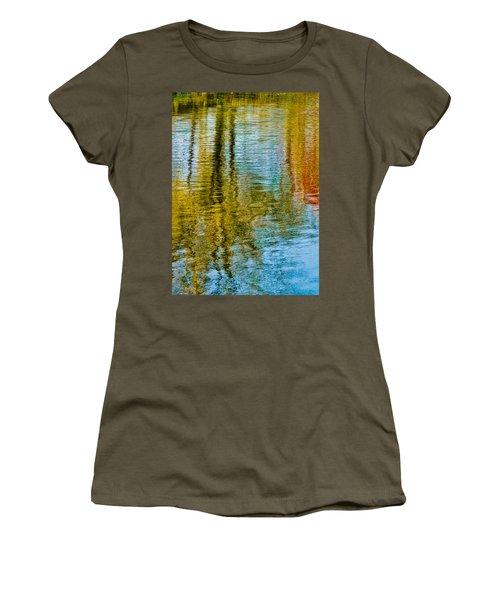 Silver Lake Autum Tree Reflections Women's T-Shirt (Junior Cut) by Michael Bessler