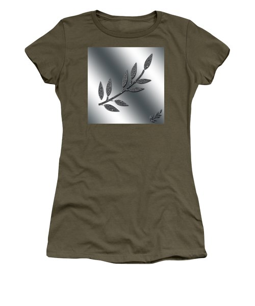 Silver Leaves Abstract Women's T-Shirt