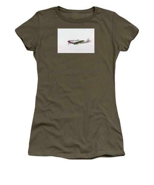 Silver Spitfire Fr Xviiie Women's T-Shirt (Junior Cut) by Gary Eason