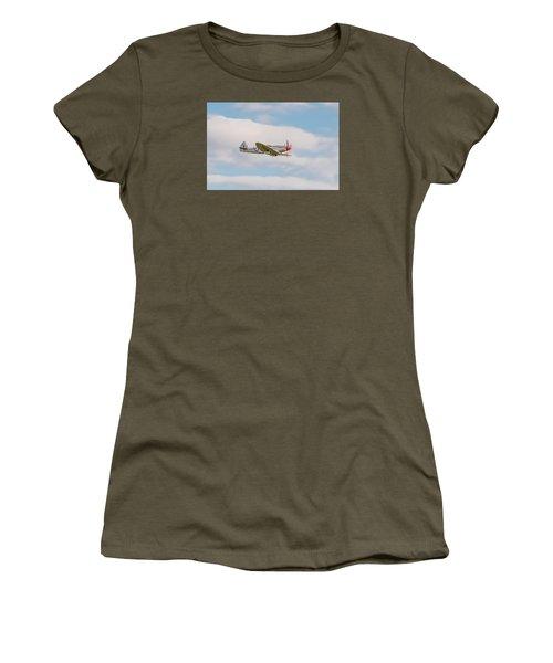 Silver Spitfire Women's T-Shirt (Junior Cut) by Gary Eason