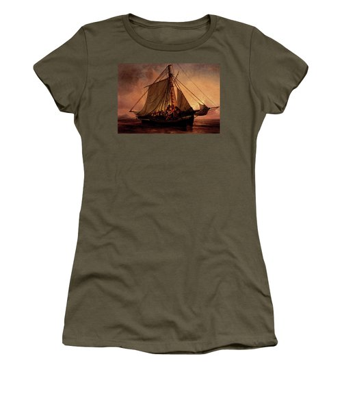 Simonsen Niels Arab Pirate Attack Women's T-Shirt (Junior Cut) by Niels Simonsen