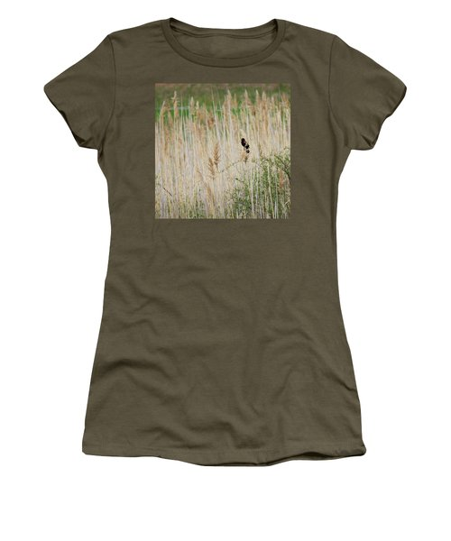 Women's T-Shirt (Junior Cut) featuring the photograph Sing For Spring Square by Bill Wakeley