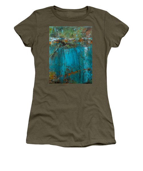 Women's T-Shirt (Junior Cut) featuring the painting Singin' With Blues by Mary Sullivan
