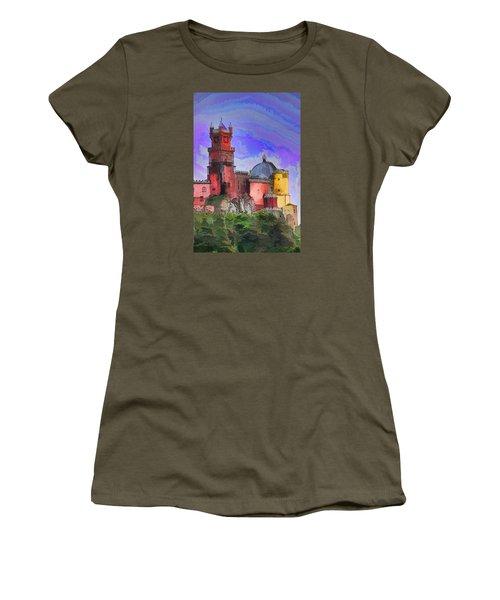 Women's T-Shirt (Junior Cut) featuring the photograph Sintra Palace by Dennis Cox WorldViews