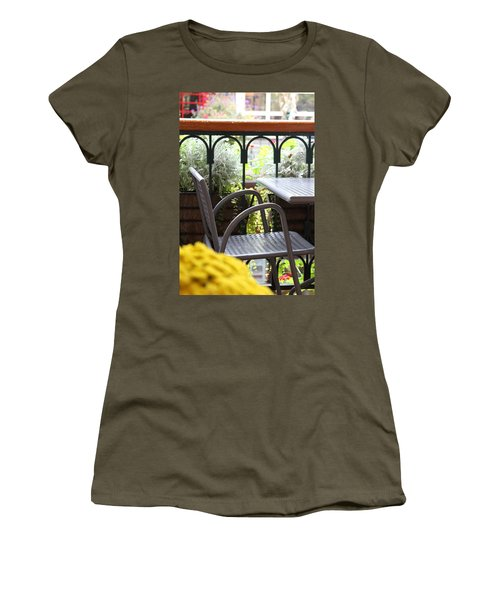 Women's T-Shirt (Junior Cut) featuring the photograph Sit A While by Laddie Halupa