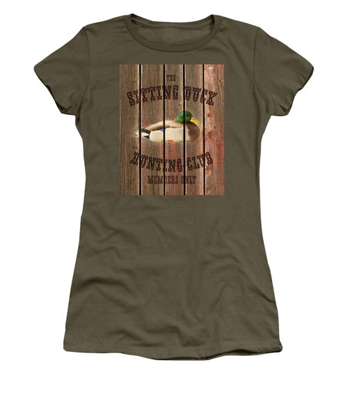 Sitting Duck Hunting Club Women's T-Shirt
