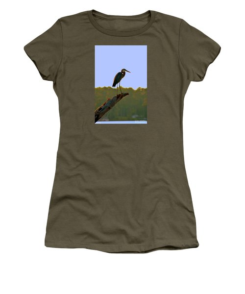 Sitting High On The Log Women's T-Shirt