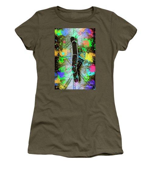 Skating Pop Art Women's T-Shirt
