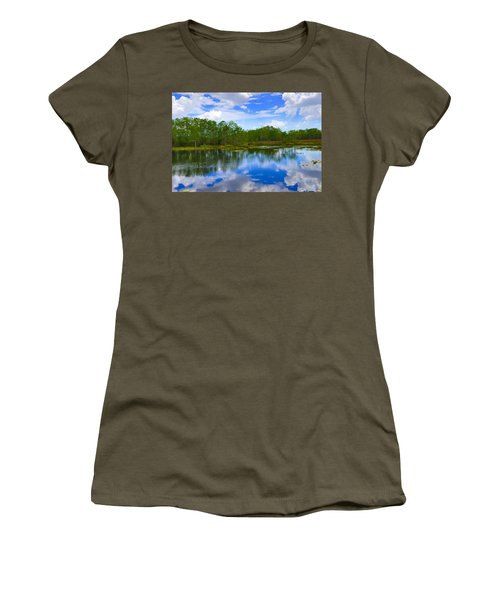 Sky Reflections Women's T-Shirt (Athletic Fit)
