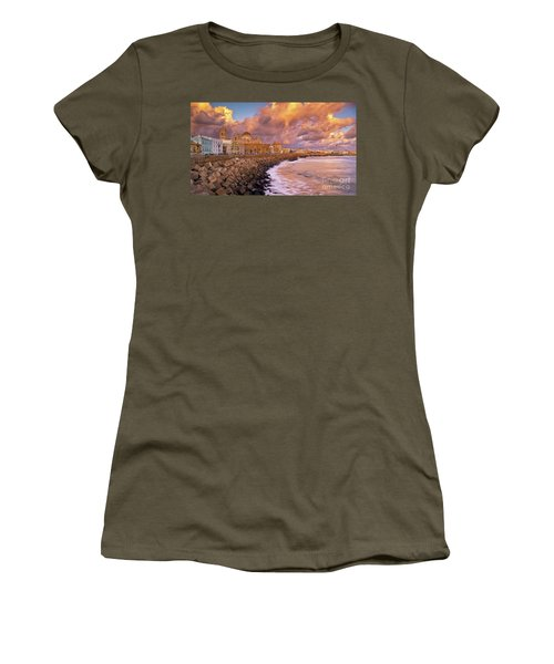 Skyline From Campo Del Sur Cadiz Spain Women's T-Shirt
